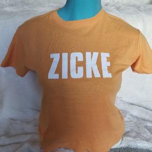 Hanes T-shirt Spicy ZICKE Orange 100% Cotton M